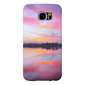 Water Themed, A Lake Reflecting The Sky Full Of Pi Samsung Galaxy S6 Cases