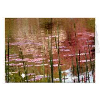 Water Through Reeds Card