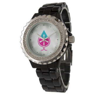 Water to Wine Miracle Logo (teal and pink) Watch