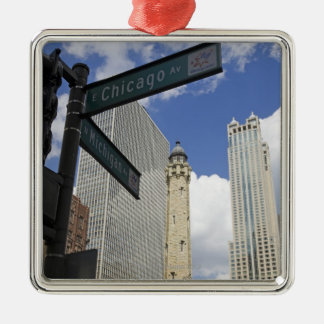 Water Tower, Chicago, Illinois, USA Christmas Ornament