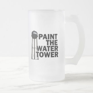 Water Tower Frosted Glass Mug