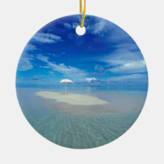 Water Tropical Oasis Christmas Ornament