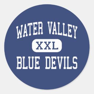 Water Valley - Blue Devils - High - Water Valley Round Sticker