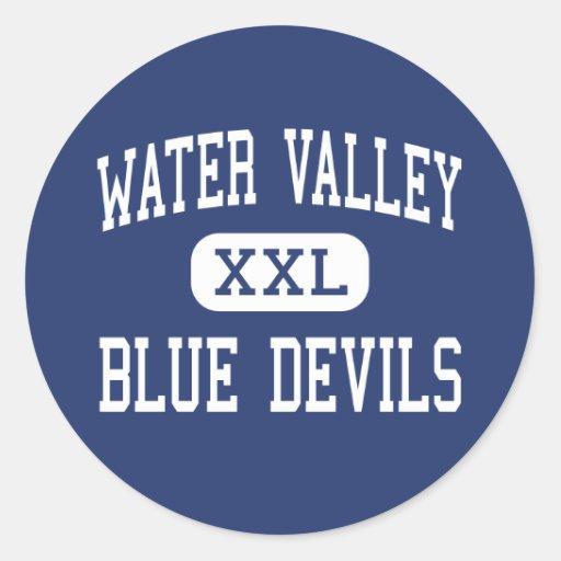 Water Valley - Blue Devils - Junior - Water Valley Round Sticker