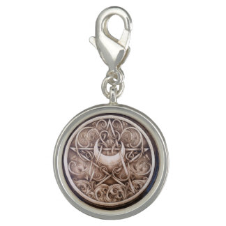 Water, Vines, and Moon Pentacle Charm