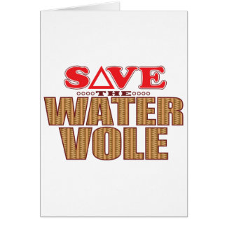 Water Vole Save Card