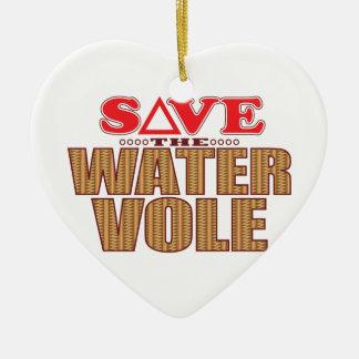 Water Vole Save Ceramic Heart Decoration