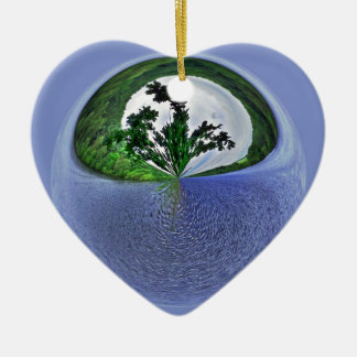 Water water everywhere ceramic heart decoration