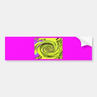 water wave xavier yellow bumper sticker