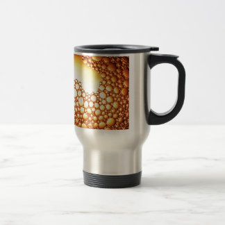 Water waves Drops Crystal Clear Fine glass tiles B Stainless Steel Travel Mug