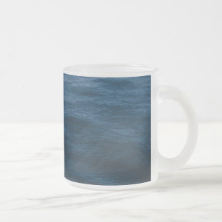 water waves frosted glass coffee mug