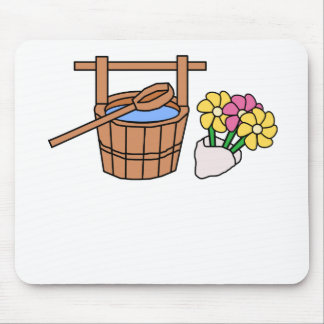 Water Well And Flowers Mousepad