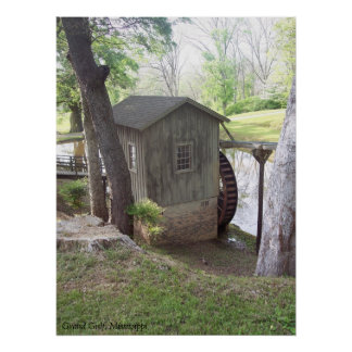 Water Wheel at Grand Gulf, Mississippi Poster