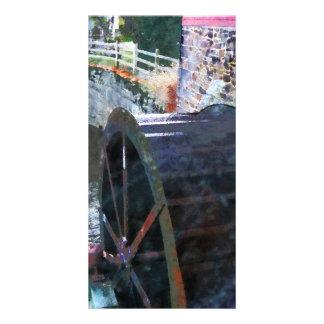Water Wheel Custom Photo Card