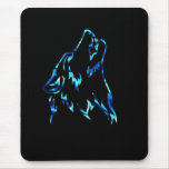 water wolf mouse pad