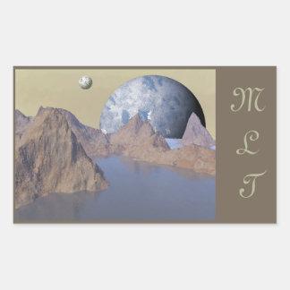 Water World Space Scene Stickers