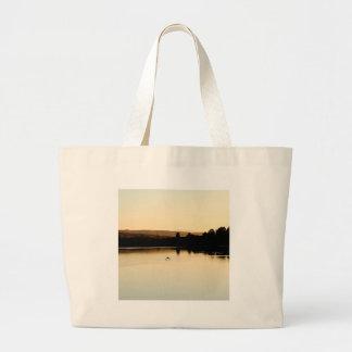 Water Yellow Swan Lake Tote Bag
