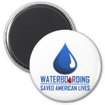 Waterboarding 6 Cm Round Magnet