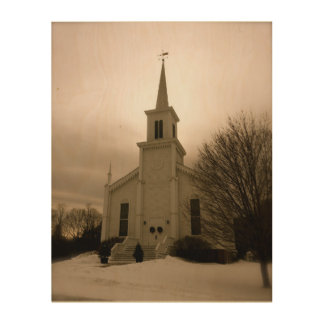 Waterbury Church Wood Print
