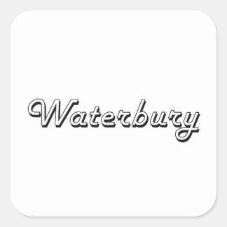 Waterbury Connecticut Classic Retro Design Square Sticker