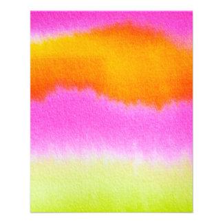 watercolor-386191 HOT PINK ORANGE STRIPES TYE-DYE Full Color Flyer