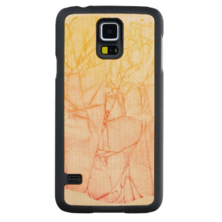 watercolor abstract background carved maple galaxy s5 case