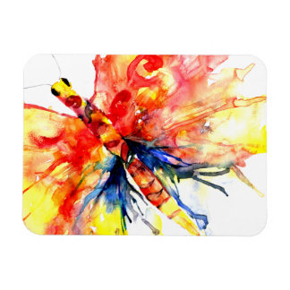 Watercolor Abstract Butterfly Magnet