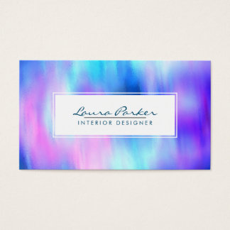 Watercolor Abstract Cool Elegant Artist Chic Business Card