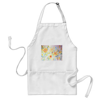 Watercolor Abstract Daffodils Pattern Standard Apron
