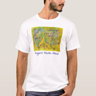 Watercolor Abstract Elegant Math Mind T-Shirt