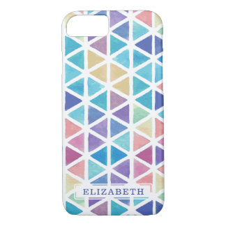 Watercolor Abstract Geometric (Coral Reef Tones) iPhone 8/7 Case