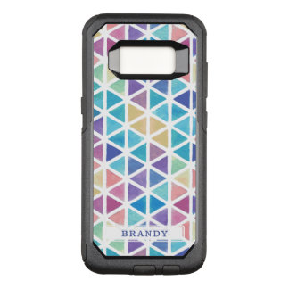 Watercolor Abstract Geometric (Coral Reef Tones) OtterBox Commuter Samsung Galaxy S8 Case