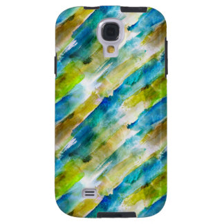 Watercolor abstract green, blue galaxy s4 case