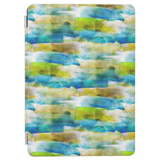 Watercolor abstract green, blue iPad air cover
