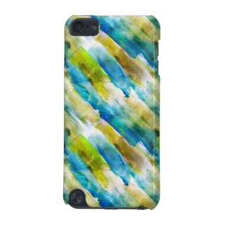 Watercolor abstract green, blue iPod touch 5G cases