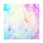 Watercolor abstract Landscape blue purple canvas Canvas Print