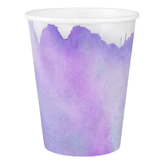 Watercolor abstract modern neutral paper cup