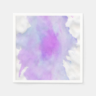 Watercolor abstract modern paper serviettes
