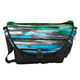 Watercolor Abstract Pattern #15 Messenger Bags