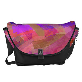 Watercolor Abstract Pattern #21 Courier Bags