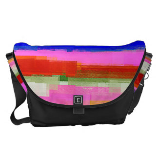 Watercolor Abstract Pattern #22 Courier Bag