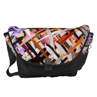 Watercolor Abstract Pattern #26 Courier Bags