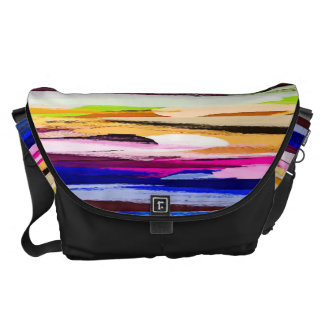 Watercolor Abstract Pattern 27 Courier Bag