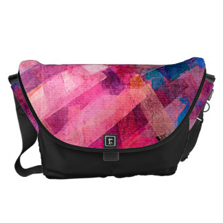 Watercolor Abstract Pattern #5 Courier Bags