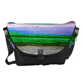 Watercolor Abstract Pattern Messenger Bags