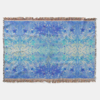 Watercolor Abstract Pattern Throw Rug