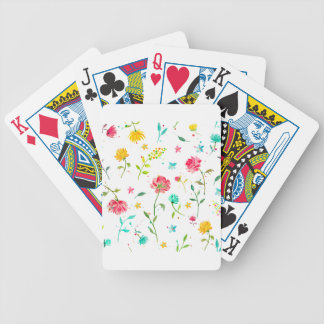 Watercolor Abstract Peony Poker Deck