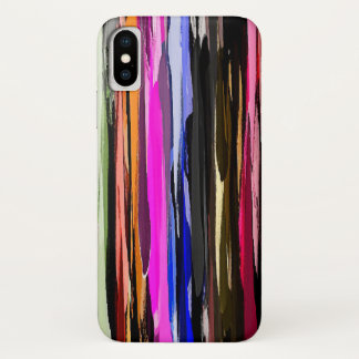 Watercolor Abstract Stripes Background iPhone X Case