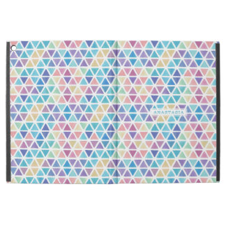 """Watercolor Abstract Triangles (Coral Reef Tones) iPad Pro 12.9"""" Case"""