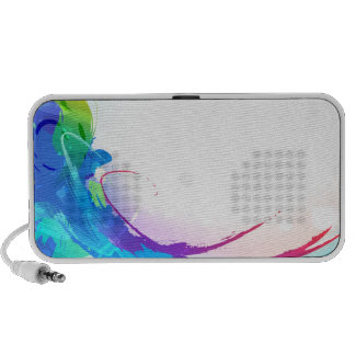 Watercolor Abstract Wave Travel Speakers